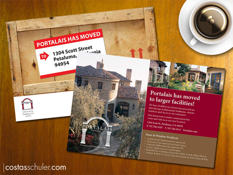 Portalais Moving Flyer Design by Costas Schuler