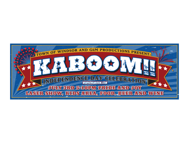 Windsor Kaboom Fireworks Banner Illustrator Design by Costas Schuler