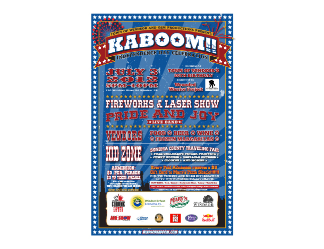 Windsor Kaboom Fireworks Poster Illustrator Design by Costas Schuler