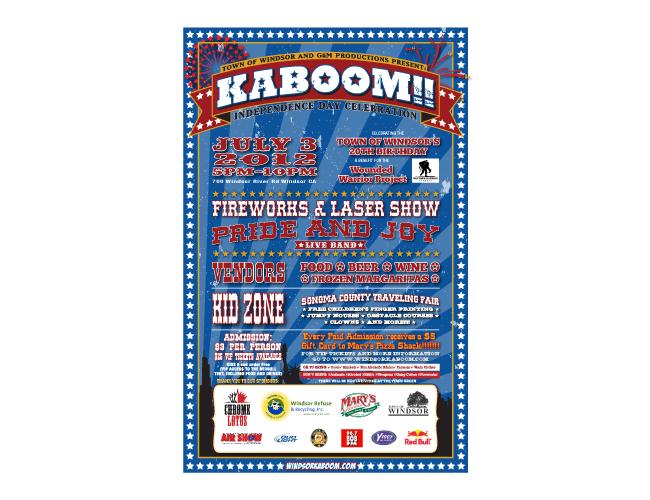 Windsor Kaboom Fireworks Poster Illustrator Design by Costas Schuler